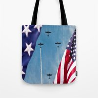 america Tote Bags featuring America by TexasArt