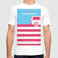 No786 My American Honey minimal movie poster Mens Fitted Tee MEDIUM White