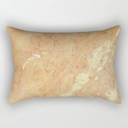 Abstract Ivory Gold Pink Marble Texture Pattern Rectangular Pillow