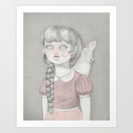 Rat Girl Art Print