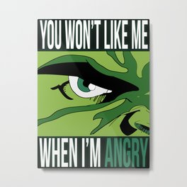 (Lack Of) Anger Management  Metal Print