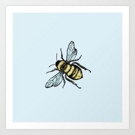 Bee Here Art Print