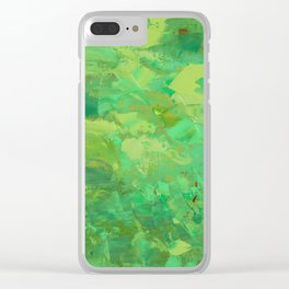 Treetops and Yellow Clear iPhone Case