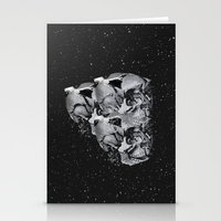 skulls Stationery Cards featuring Skulls by Mrs Araneae