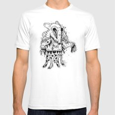 Happy Madness Mens Fitted Tee White SMALL