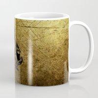 assassins creed Mugs featuring Creed Assassins Grunge Logo by DavinciArt
