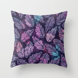 Colorful leaves II Throw Pillow