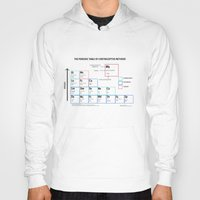 periodic table Hoodies featuring The Periodic Table of Contraceptive Methods by FP Design Lab