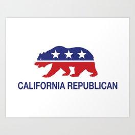 California Political Republican Bear  Art Print