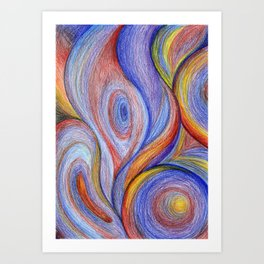 HOT Color blend Art Print