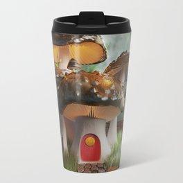 Fairy-Tale Mushroom Mansion Travel Mug