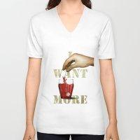 tea V-neck T-shirts featuring Tea by gazonula