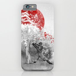 The warrior and the wind iPhone Case