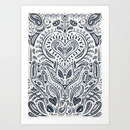 Folklore Pattern 3 Art Print