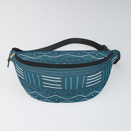 Mudcloth on Teal Fanny Pack
