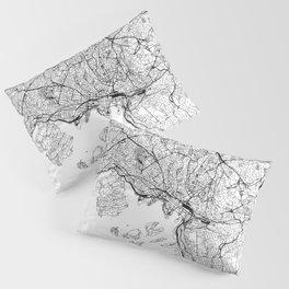 Oslo White Map Pillow Sham