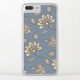 Batik Flowers Clear iPhone Case