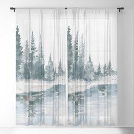 Mountain River Sheer Curtain