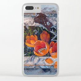 Urban crocuses Clear iPhone Case