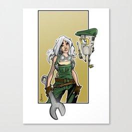 mecha girl Canvas Print