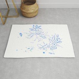 OB Blue & White Rug