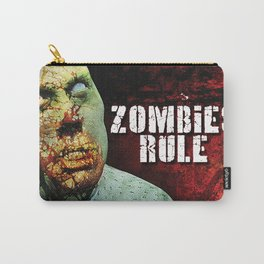 Zombies Rule Carry-All Pouch