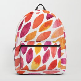 Watercolor brush strokes burst - autumn palette Backpack