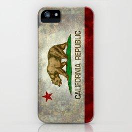 California Republic state flag Vintage iPhone Case