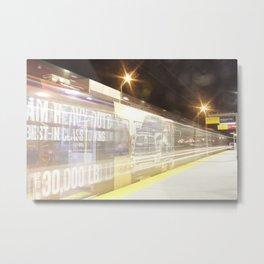 C-Train at night 1 Metal Print