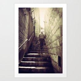 Old City Steps, Jerusalem Art Print