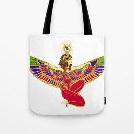 Winged Isis w/Eye of Horus Tote Bag