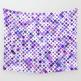 Purple Squared Wall Tapestry
