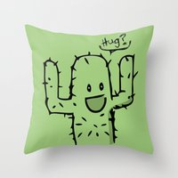 hug Throw Pillows featuring Hug? by UNDeRT4keR