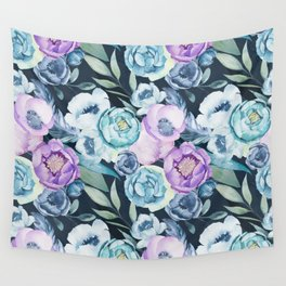 Dark Floral Spring Wall Tapestry