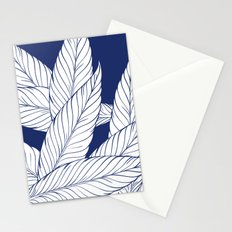 SUMMERTIME (Leaves on blue) Stationery Cards