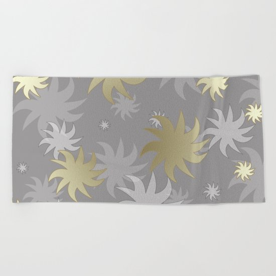 CHRISTMAS STARS 03 Beach Towel