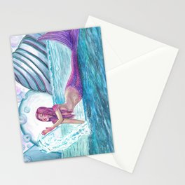 Andromeda Mermaid Fantasy Art by Laurie Leigh Stationery Cards