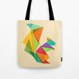 Fractal geometric Squirrel Tote Bag