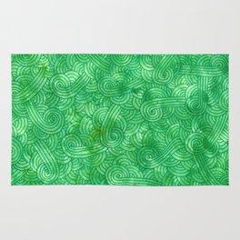 Bright Green Swirls Doodles Rug