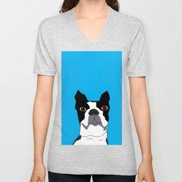 Boston Terrier Ike Unisex V-Neck
