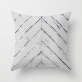 Wooden pattern - arrow shape, art decor Throw Pillow
