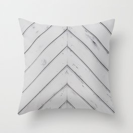 Wooden pattern - arrow shape, art decor Throw Pillow
