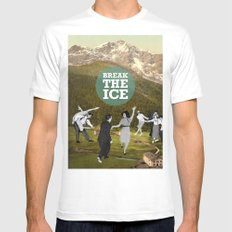 Break The Ice Mens Fitted Tee White MEDIUM