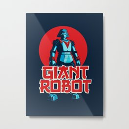 Giant Robot Metal Print