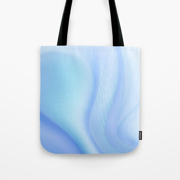 Soft Blue Wave Tote Bag