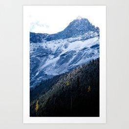 The Rockies at Avalanche Lake Art Print