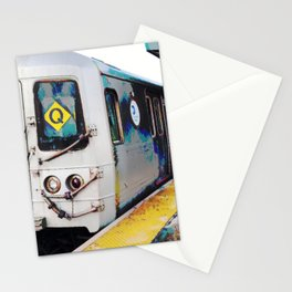 NYC Q Train Stationery Cards