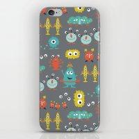 aliens iPhone & iPod Skins featuring Aliens by Jill Byers