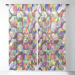 Polygon spiro Sheer Curtain