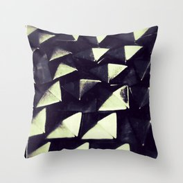Silver Studs Throw Pillow
